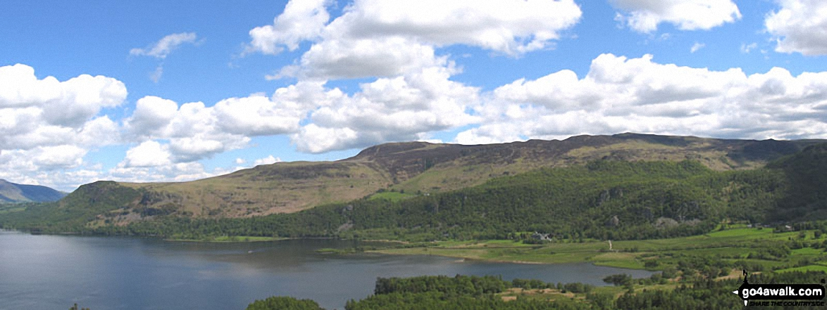 *Derwent Water with Walla Crag, Bleaberry Fell and High Seat beyond from Cat Bells (Catbells)