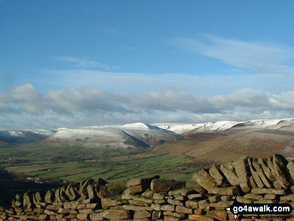 Snow on Kinder Scout from Alport Castles