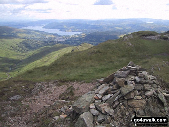 Low Pike (Scandale) and Lake Windermere from High Pike (Scandale). Walk route map c247 The Fairfield Horseshoe from Ambleside photo