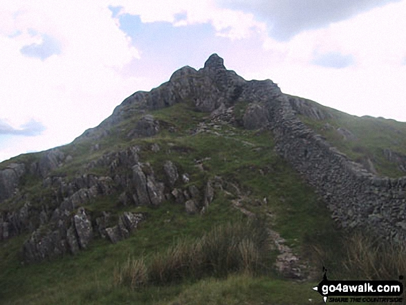 Low Pike (Scandale) summit. Walk route map c247 The Fairfield Horseshoe from Ambleside photo