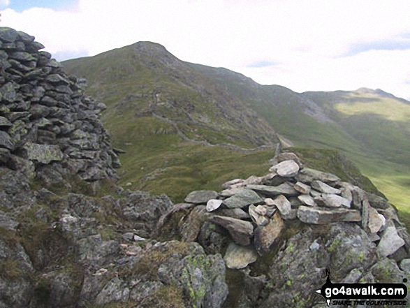 High Pike (Scandale) from Low Pike (Scandale). Walk route map c247 The Fairfield Horseshoe from Ambleside photo
