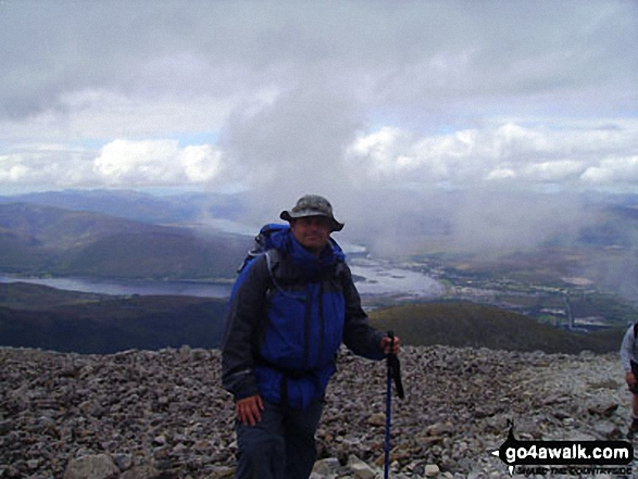 Approaching the summit of Ben Nevis. Walk route map h154 Ben Nevis and Carn Mor Dearg from The Nevis Range Mountain Gondola photo