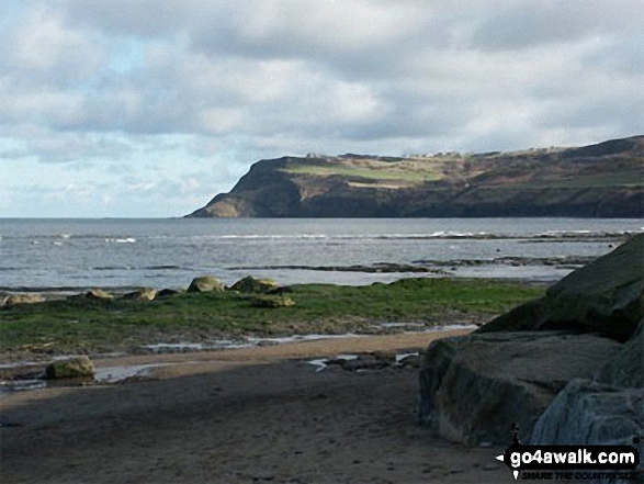 Ravenscar from the beach at Robin Hood's Bay