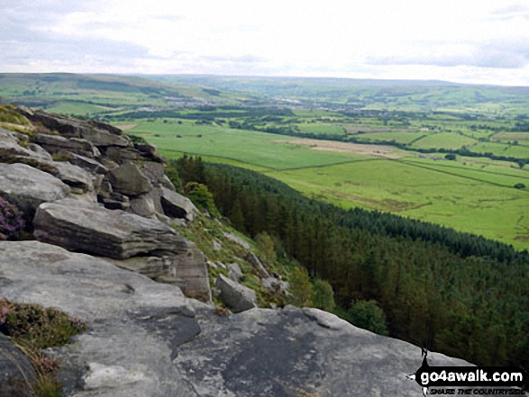 Looking south towards Skipton and Airedale from Crookrise Crag Top