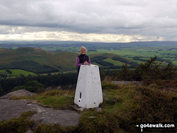 On the summit trig point on Crookrise Crag Top