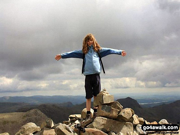 My daughter (11) conquering Scafell Pike
