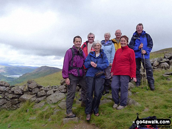 Walk c304 Beda Head and Place Fell from Howtown - Near Angletarn Pikes with Ullswater and Place Fell in the background