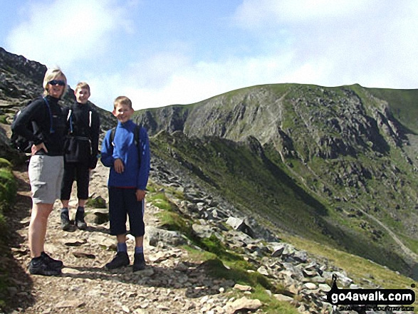 Me and my sons, Ben and Jack on Helvellyn in The Lake District Cumbria England