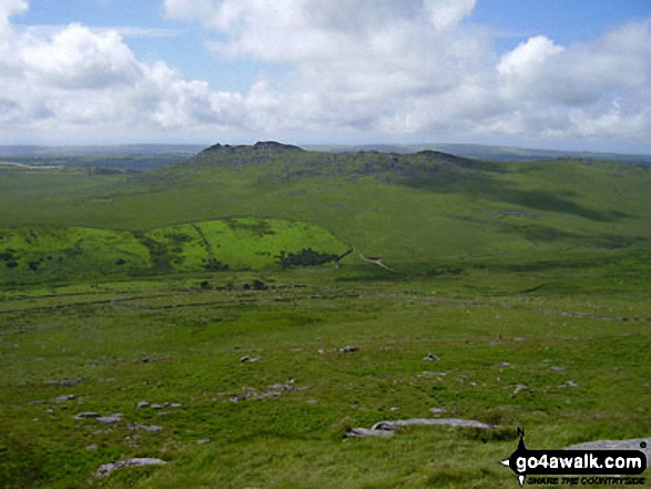 Rough Tor from Brown Willy. Walk route map co168 Brown Willy and Bodmin Moor from St Breward photo