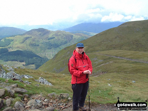 On Ben Nevis. Walk route map h137 Ben Nevis and Carn Mor Dearg from Achintee, Fort William photo