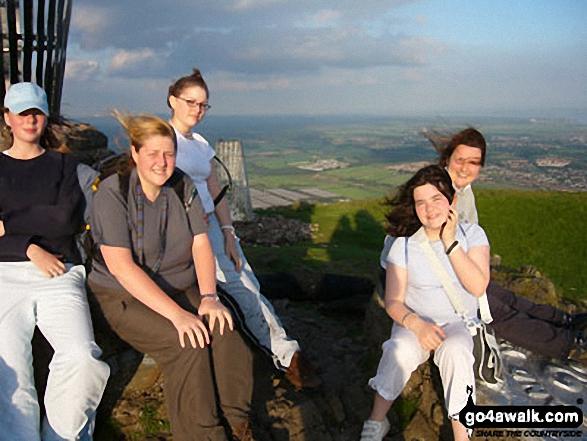 Me and some girls from my Ranger Unit on Dumyat walk The Ochil Hills Stirlingshire Scotland walks