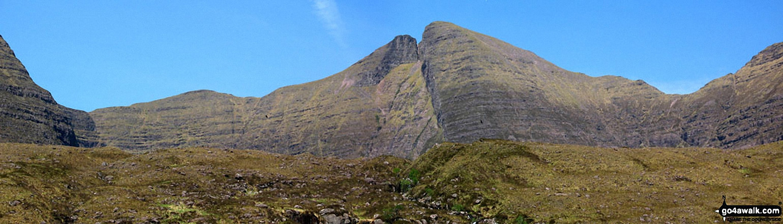 *Sgurr Mhor (Beinn Alligin) and Na Rathanan with two soaring eagles from Coire Mhic Nobuil, Torridon, Wester Ross