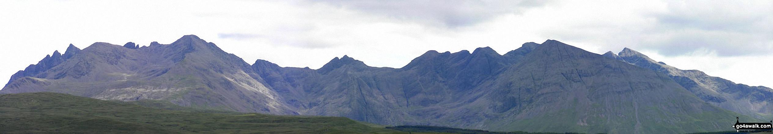 The Black Cuillin Hills taken from North of Glen Drynoch