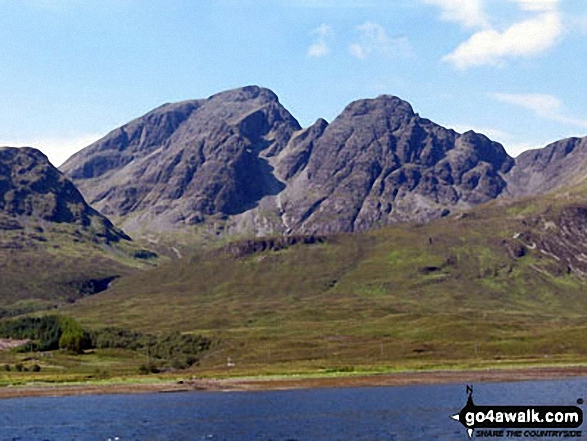 Walk h237 Boreraig, Suisnish and Camas Malag from Loch Cill Chriosd - Bla Bheinn (Blaven) (South West Top) and Bla Bheinn (Blaven) from Loch Slapin near Torrin