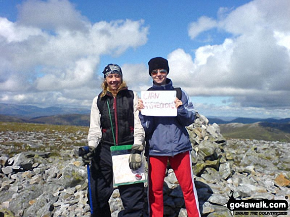 Me and my friend Claire on Carn a' Gheoidh