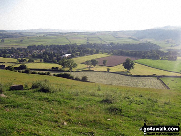 Baslow from near Lady Wall Well