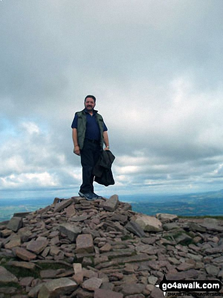 Me at the top of Pen Y Fan on a wonderful 'brooding' day