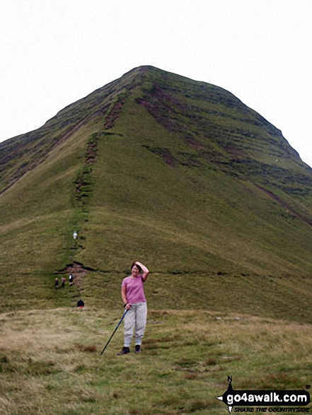 The final ascent to Cribyn from the Bryn Teg ridge