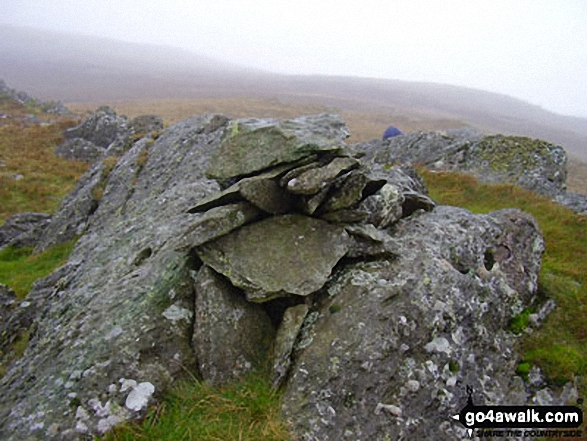 High Saddle (Coldbarrow Fell) summit cairn