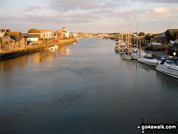 The River Arun from the Sliding Bridge at Littlehampton