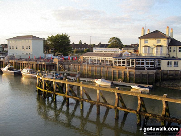 The famous 'Arun View' and The River Arun from the Sliding Bridge at Littlehampton