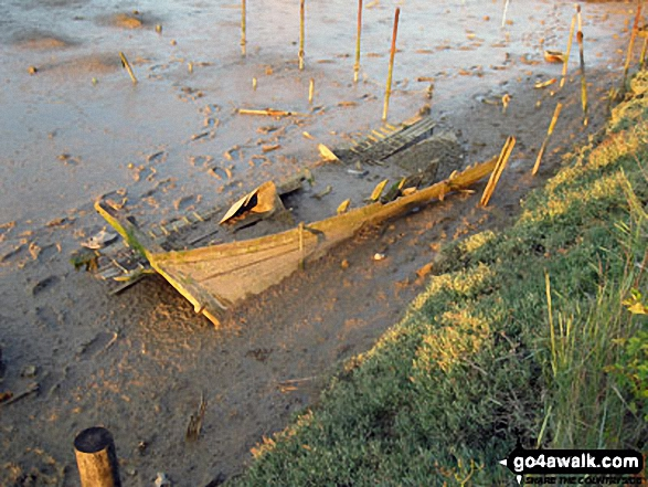 Wreck deep in the mud in Littlehampton Harbour