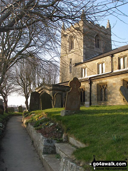Walk ey100 Flamborough Head from South Landing - Flamborough Church