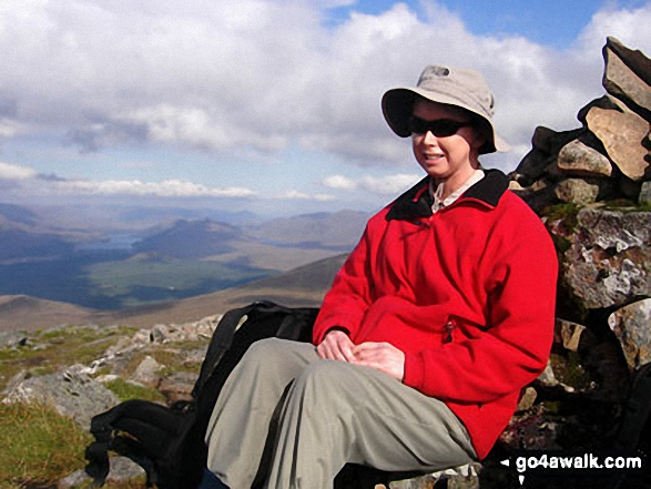 On Stob Coire Sgriodain with Loch Laggan in the background