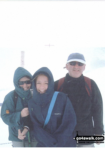 Me, my husband & daughter Anna on Jungfraujoch walk The Bernese Oberland  Switzerland walks