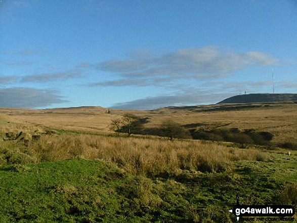 Winter Hill (Rivington Moor) from near Lead Mines Clough
