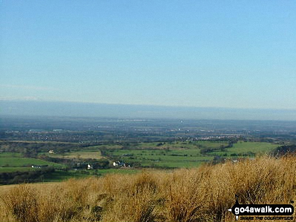 Looking towards Blackpool from the lower slopes of Great Hill