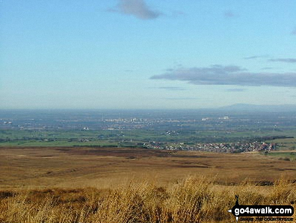 Looking towards Preston with Barrow beyond from Great Hill summit