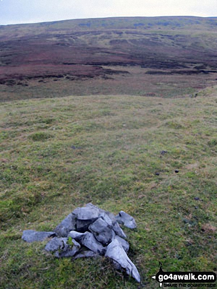 Bullman Hills summit cairn with Cross Fell forming the horizon