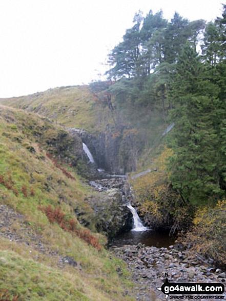 The River South Tyne waterfalls near Hole House Farm