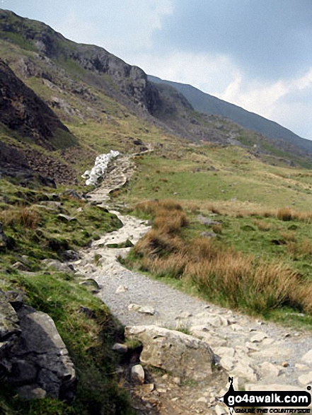 The Pyg Track on the way up Mount Snowdon