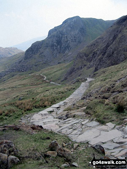 The Pyg Track route up Mount Snowdon from Pen-y-Pass