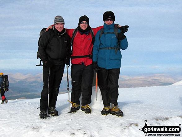 On Ben Nevis. Walk route map h154 Ben Nevis and Carn Mor Dearg from The Nevis Range Mountain Gondola photo