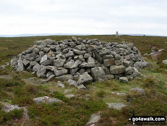 Walk ny103 Rogan's Seat and Water Crag (Arkengarthdale) from Keld - Water Crag (Arkengarthdale) summit shelter