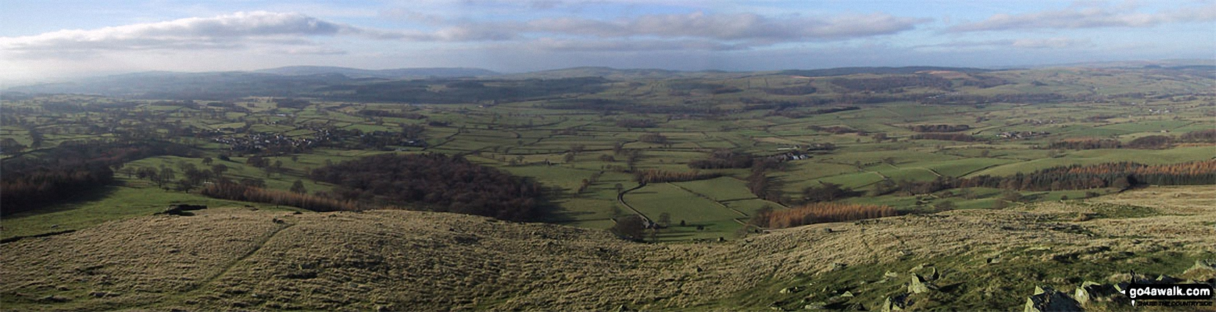 The River Lune Valley from Castle Knott summit cairn