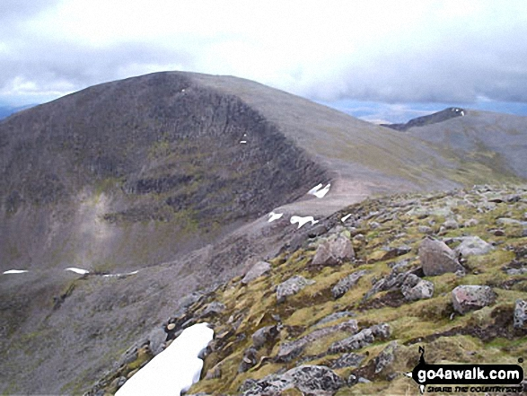 Cairn Toul (Carn an t-Sabhail) from Sgor an Lochain Uaine (The Angel's Peak)