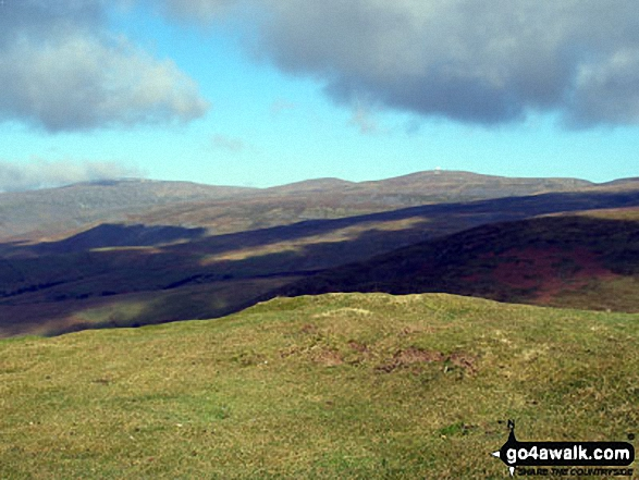 Cross Fell and Great Dun Fell from Dufton Pike