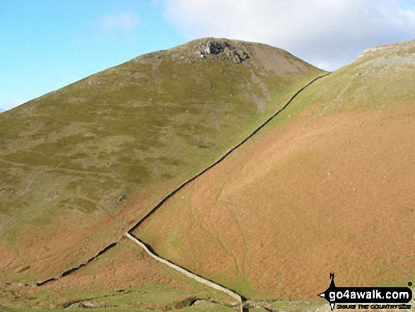 Brownber Hill from Great Rundale Beck and Threlkeld Side