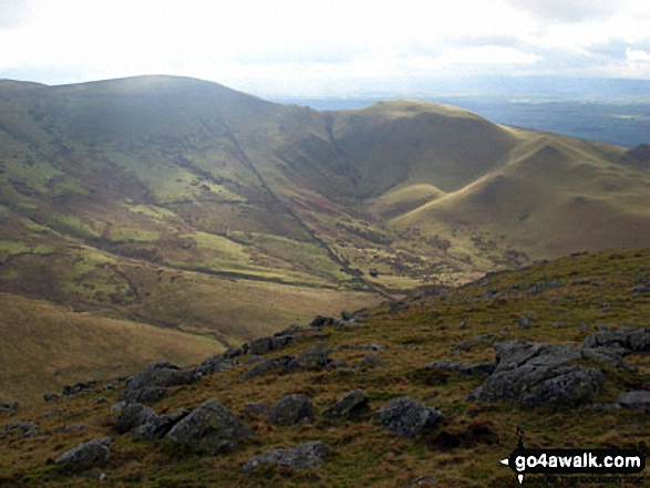 Brown Hill and Muska Fell from Cuns Fell. Walk route map c430 Cuns Fell, Melmerby Fell and Fiend's Fell from Melmerby photo