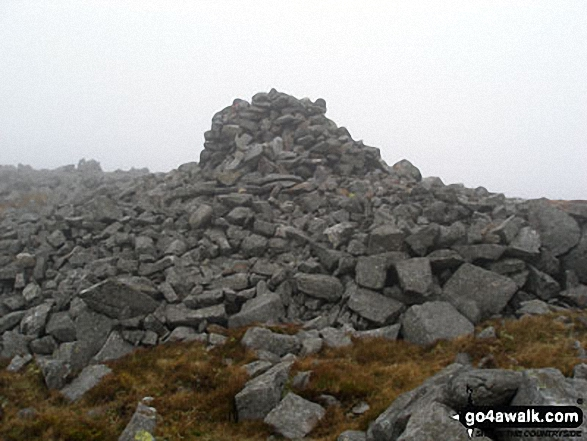 Cairn on Melmerby Fell. Walk route map c430 Cuns Fell, Melmerby Fell and Fiend's Fell from Melmerby photo