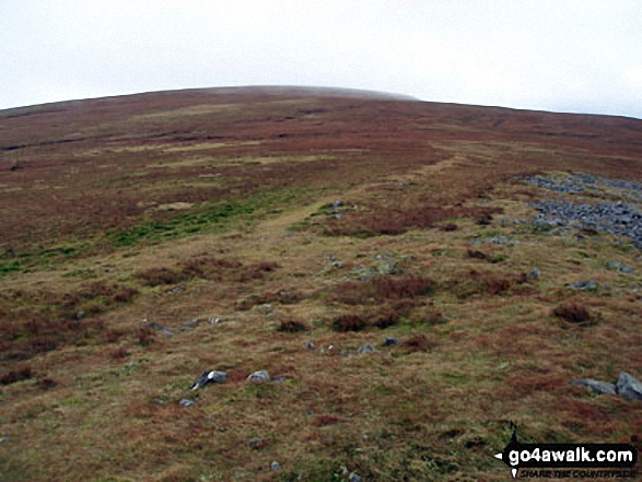 Melmerby Fell from Knapside Hill. Walk route map c430 Cuns Fell, Melmerby Fell and Fiend's Fell from Melmerby photo