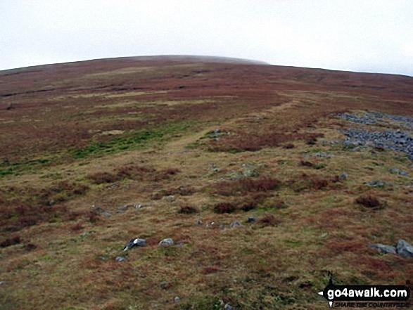 Melmerby Fell from Knapside Hill. Walk route map c430 Cuns Fell, Melmerby Fell and Fiend's Fell from Melmerby photo