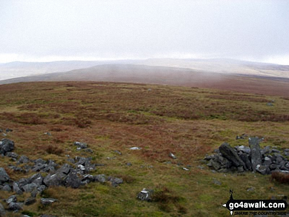 Little Knapside Hill from Knapside Hill. Walk route map c430 Cuns Fell, Melmerby Fell and Fiend's Fell from Melmerby photo