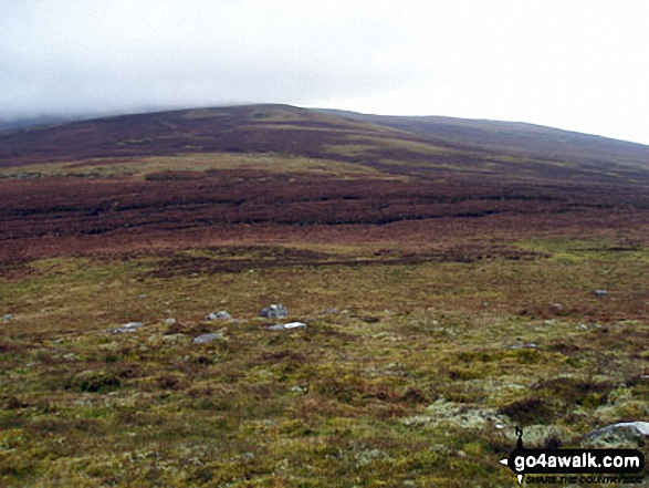 Fiend's Hill from Little Knapside Hill. Walk route map c430 Cuns Fell, Melmerby Fell and Fiend's Fell from Melmerby photo