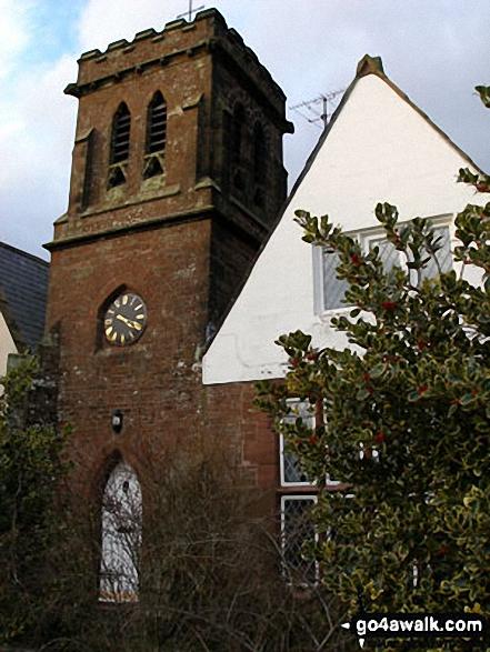 Melmerby Church. Walk route map c430 Cuns Fell, Melmerby Fell and Fiend's Fell from Melmerby photo