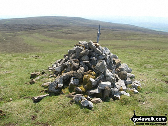 Cairn on Coldberry End with Three Pike beyond